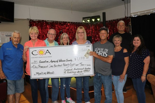 Council on Aging Receives Donation from DeLand Fraternal Order of Eagles